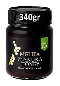 MELITA MANUKA HONIG / MIEL DE MANUKA (MGO ≥ 829 =) UMF® 20+ 340gr (€80,64 / 250gr) / UMF® = DAS EINZIGE OFFIZIELLE QUALITÄTSSIEGEL