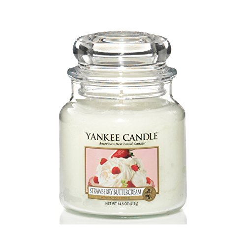 Yankee Candle Yankee candle glaskerze mittel strawberry buttercream