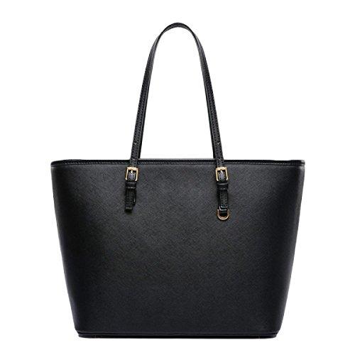 Handtasche Der Handtasche Einfacher Schulter Tote Tasche Reißverschluss Nieten Purple