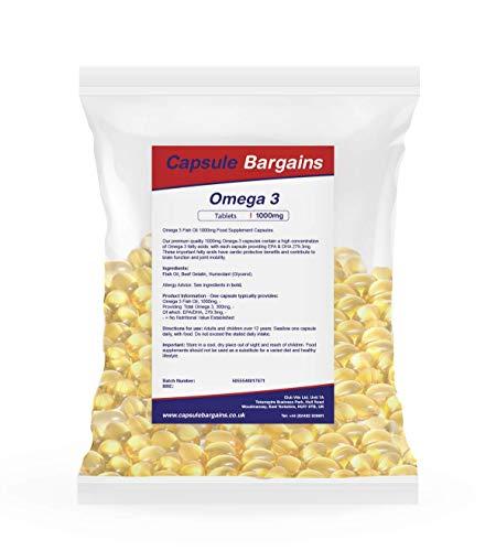 Tablet Bargains Oméga-3 Huile De Poisson 1000mg - 360 Capsules