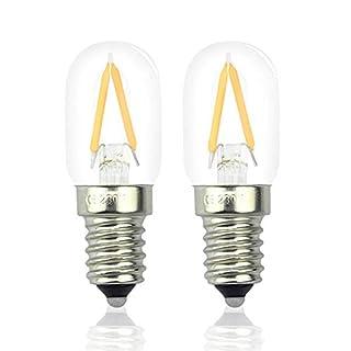 2W LED Fridge Light Bulb E14 Warm White 2700K 15W Halogen Equivalent Energy Saving SES LED Pygmy Bulb Small Screw E14 LED Appliance Lamp for Freezer/Microwave/Cooker Hood (2-Pack, Non-dimmable)