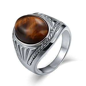 Aidsaer Silberring Antik Ring Männer Islam Oval Opal Zirkonia Ringgröße 54-67 Memoir,Immer Bei Dir, Ring Für Männer