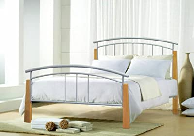 New Jose Metal Bed Frame 4FT Small Double Silver - low-cost UK light store.