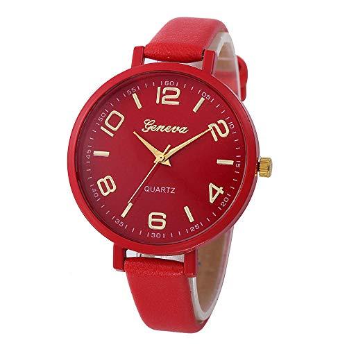 Jyuter12 Watch Lady Slim Thin Belt Reloj De Cuarzo