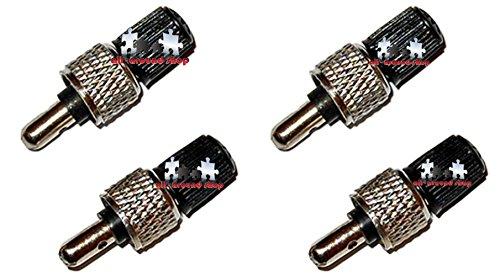 4 Stück Fahrrad Ventile Fahrradventil + Muttern + Kappen Blitzventil Fahrradventile Set von all-around24 (4 Stück)