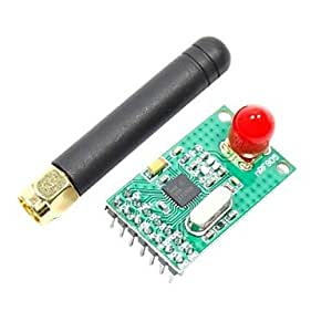 NRF905 433/868/915MHz Wireless Module w/ Antenna for (For Arduino) (Works with Official (For Arduino) Boards)(2.7~3.3V)