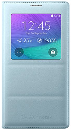 Samsung S-View Schutzhülle Case Cover mit Sichtfenster in Stepp-Optik für Samsung Galaxy Note 4 - Mint