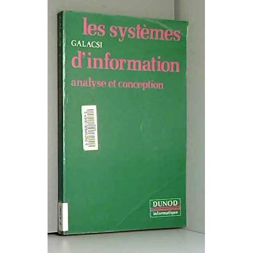 Les systèmes d'information : Analyse et conception