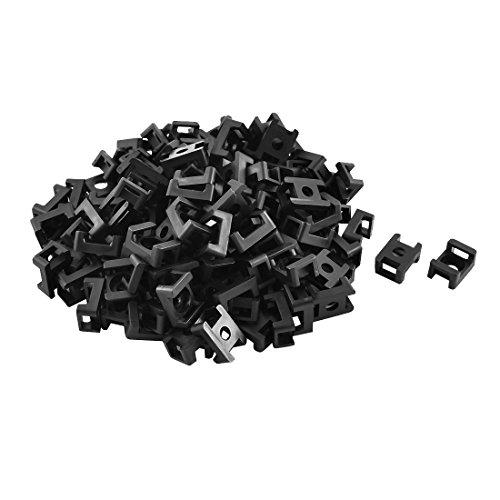 sourcingmap® 120Stk Plastik Sattel Typ Kabelbinder Basis Draht Halter 23 x 25 x 10 mm