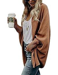 ZiXing Donna Cardigan in Maglia Maniche Lunghe Oversized Maglione del  Cappotto Allentato Maglione Outwear 8ad69dc4a68
