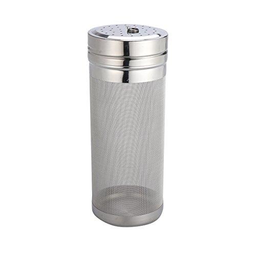 BESTONZON 7 x 18cm Edelstahl Bier Homebrew Filter Wein Hopper Filter Sieb (Silber) -
