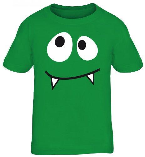 Shirtstreet24, MONSTER VAMPIRE, Fasching Karneval Kostüm Kids Kinder Fun T-Shirt Funshirt, Größe: 122/128,kelly - Vampir Kid Kostüm