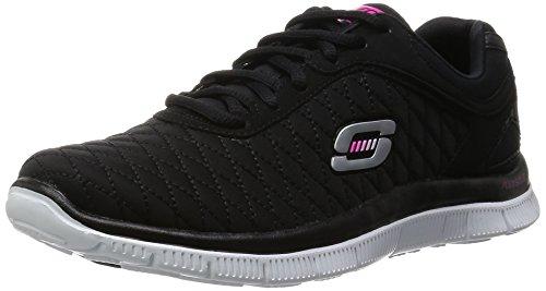 Skechers Damen Flex AppealEye Catcher Sneakers Schwarz (Bkw)