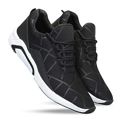 layasa Men's Air Series Mesh Casual,Walking,Running/Gymwear Shoes ... (2, Black)