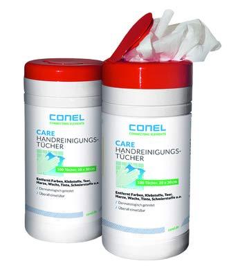 CARE 511 Hand-Reinigungstuch 70 Stück in Spenderdose 20 x 30cm -