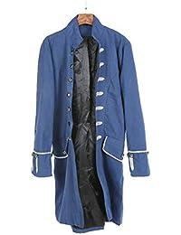 18960f377ad1 Blouson Homme Hiver Manteau Impression Habit Veste Redingote Gothique  Costume Uniforme Hommes Praty Outwear