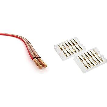 Wasserdicht UV-gesch/ützt CL3 Bewerted UL Listed OFC 75 Meter Kabel enth/ält 50 Kabelbinder MutecPower 16 AWG 75m Au/ßen Verwendung Lautsprecherkabel 2 x 1.5mm/²