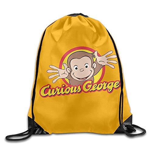 CHSUNHEY Turnbeutel,Sporttaschen,Curious George Travel Shoulder Bags Eco-Friendly Luggage Drawstring Backpack/Rucksack