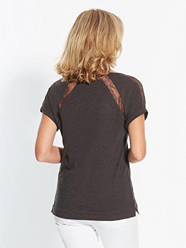 Balsamik - Shirt, Kurzarm, Details aus Spitze - Damen Schwarz