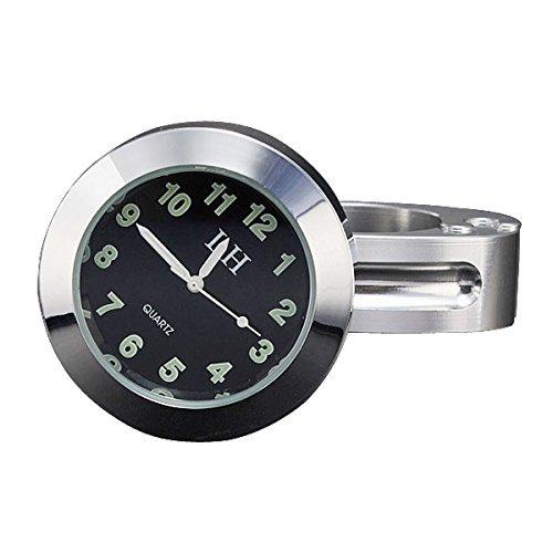dlll chrom universal wasserdichte Motorrad Motorrad Lenkerhalterung Uhr Passform 7/20,3 cm oder 2,5 cm Lenker Uhr für Yamaha Harley davidsons Suzuki Honda Kawasaki