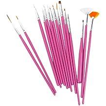 1 X 15 x Nagel Kunst Malerei Pen / Pinsel Set - Pink