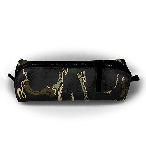 Camo Army Totenkopf Skull Piraten Student Federmappe mit Reißverschluss Kosmetiktasche Tasche klein Münzfach?, für Kinder Teenager und anderen Schulbedarf Camo Piraten
