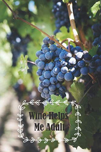 Wine Helps Me Adult: 6 x 9 inch 120 Pages Lined Journal, Diary and Notebook for People Who Love To Taste, Drink or Make Wine