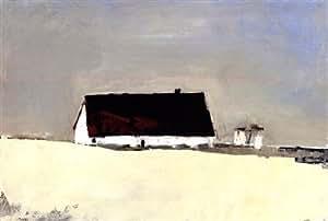 Grand Barn ou de Silos Art Poster PRINT Sandra Pratt 36 x 27