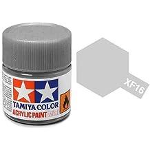 Tamiya 81716 - Pintura Acrílica Mini, Mate Aluminio Frasco de 10 ml, XF-16