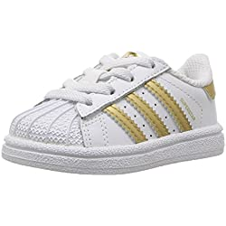 adidas Superstar I - Zapatillas para Hombre Blanco White/Gold Metallic/Blue