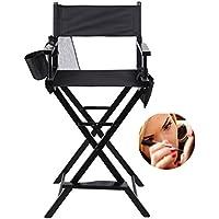 KinshopS Klappbar Regiestuhl Klappstuhl Make up Stuhl mit Seitentaschen Max Gewicht 250 lbs 122cm