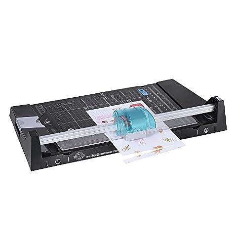 DSB tm-205in 1A4Papier Trimmer Cutter Welle/gerade/Sprung/SCORE/Ecke rund sicherere Edelstahl Stahl Schwert Max. 5Blatt Schneiden Kapazität für Foto Kunst Geschäft Karte
