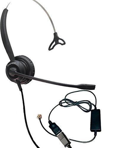 XS 820 Headset Bundle mit ergonomischem Telefonkabel für RJ9-Telefone mit Headset-Anschluss, VoIP, IP, Digitalkamera: Cisco, Mitel, ShoreTel, Aastra, Toshiba, Nortel, Meridian, Yealink, NEC, Allworx -