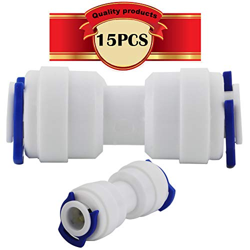 The Water Filter Men Raccordo per alimentazione idrica con attacco pushfit da 1,9 cm bsp a 0,63 cm adatto per filtri dellacqua di frigoriferi o qualsiasi altro sistema idrico aventi un tubo in polietilene a bassa densit/à da 0,63 cm.