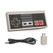 OSTENT Gamepad controller wireless ricaricabile per Nintendo NES Mini Classic Edition Famicom Mini Console
