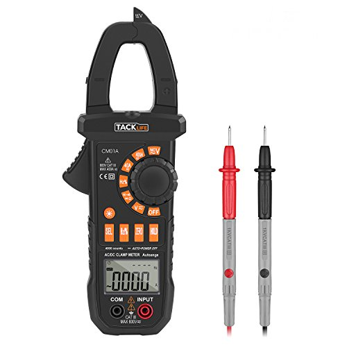 Preisvergleich Produktbild Tacklife CM01A Advanced Digital Clamp Meter Zangen Multimeter mit Non Contact Voltage zum Messen von Wechselstrom, GleichStrom, AC / DC Spannung, Widerstand, Kapazitanz CAT III Amperemeter mit Hintergrundbeleuchtung
