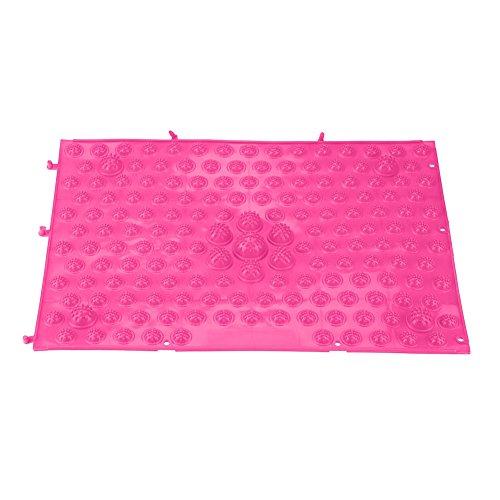 Fdit Fußmassagematte für TPE Spannungsmatte für den Fußboden zu Hause Pink