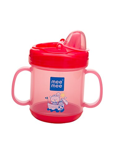 Mee Mee No Spill Sipper Cup with Double Handle (Pink)