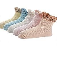 Wzbb Calcetines 5 Pares De Paquete Calcetines De Algodón De 0-10 Años Calcetines Esbeltos Salvajes Calcetines Lindos Niños Recién Nacidos Calcetines Infantiles