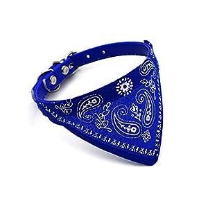 Beito Réglable personnalisé Mignon Foulards écharpes Collier Chien Chat Chien Colliers et Bandana-Bleu