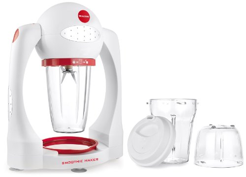 MACOM Just Kitchen 852 Smoothie Maker Frullatore, Colore Bianco/Rosso