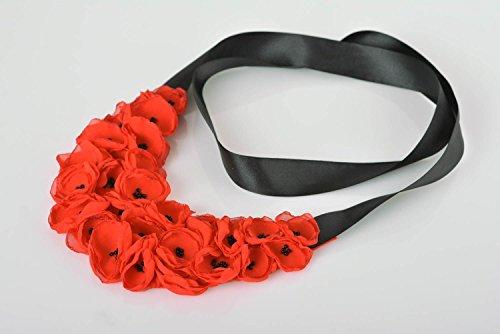 Collar de flores de tela hecho a mano adorno para el cuello accesorio