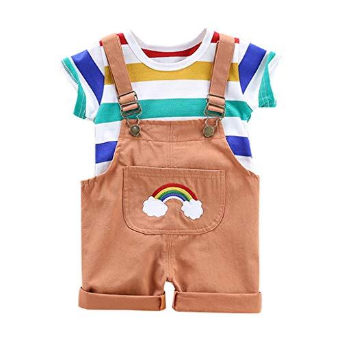 Pwtchenty baby Jungen 2Pcs T-Shirt Top Hosenträger Strap Shorts Hot Pants Formal Kinder Party Outfit Kleidung Sets 70er Jahre Bekleidung Herren