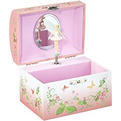 "Musicbox Kingdom 22159 Ballerina Musical Jewelry Box, Playing The Melody ""Emperors Waltz"", Pink"