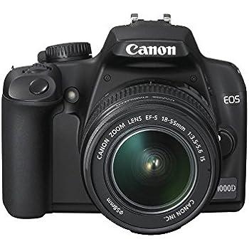 Canon EOS 1000D - Cámara Réflex Digital 10.1 MP (Objetivo EF-S 18 ...