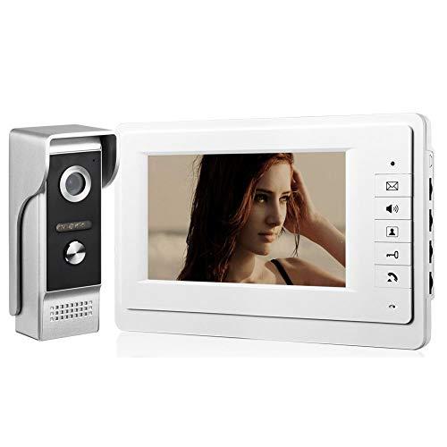 Comunite 7 'sistema di videosorveglianza per walkie-talkie sistema di campanello per porta telefono a infrarossi videocitofono set di cavi vivavoce