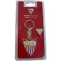 Sevilla CF 06LLA04-00 Llavero, Blanco/Rojo, Talla Única