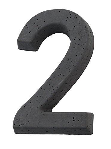 Hausnummer aus Beton thumbnail