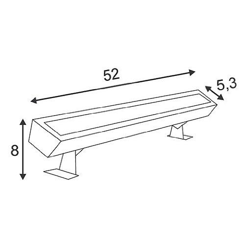 Slv galen - Proyector 15x1w led blanco aluminio