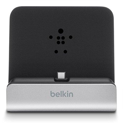 Belkin PowerHouse Micro-USB Dock XL (geeignet für Android Tablets und eReader) silber
